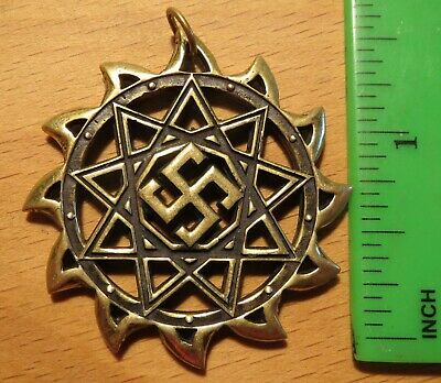 Ancient Scythian-Slavs Bronze Symbol of the Obegernik / Replica-Amulet