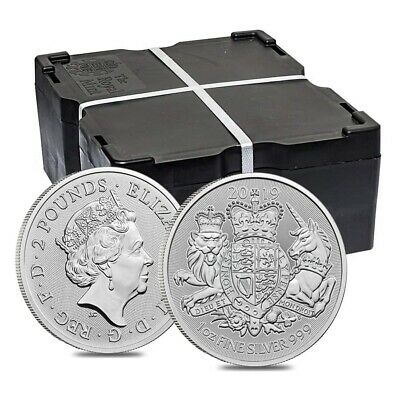 Monster Box of 500 - 2019 Great Britain 1 oz Silver Royal Arms Coin .999 Fine BU