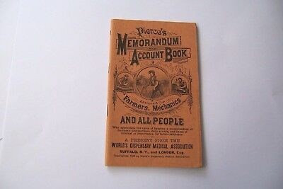 Vintage Pierce's Memorandum & Account Book World Dispensary Medical 1906