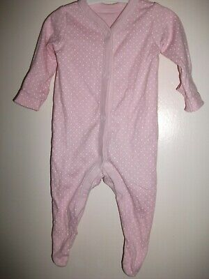 Baby Girls Pink Spotted Sleepsuit - Up To 1 Month 10lb
