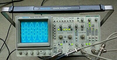 Tektronix 2247A Four Channel 100 MHz Oscilloscope, two probes, power cord