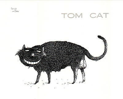 Tom Cat - Limited Edition Lithograph Signed By R. [Richard] Stine - 1977
