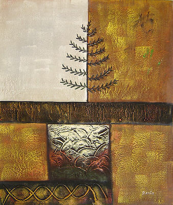 """Contemporary Branch Hand Painted 20""""x24"""" Oil Painting Abstract Art on Canvas"""