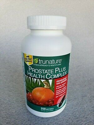 Trunature PROSTATE PLUS HEALTH COMPLEX 250 Softgels - Saw Palmento with Zinc