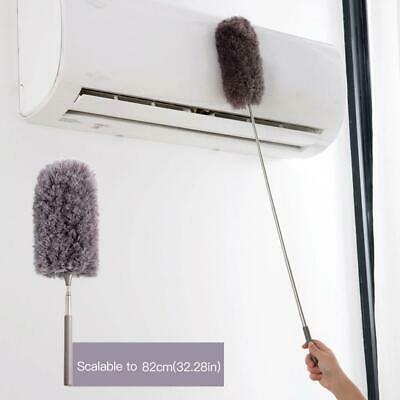Long Handle Dust Remover Clean Microfiber Feather Duster Retractable Hand Duster