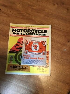 1978 J C Whitney Motorcycle Parts Accessories Catalog i
