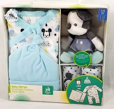 Disney Baby Boys or Girls New Mickey Mouse 5 Piece Gift Set Romper 12-18 Months