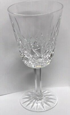 Waterford Crystal Ireland Lismore Signed White Wine Goblet Glass Stemware