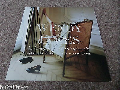 """Wendy James - Bad Intentions and a.... *SIGNED* 7"""" Vinyl Record Transvision Vamp"""