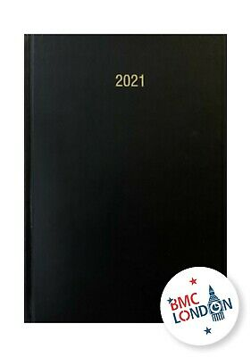 2019-2020 A4 Academic Mid year Day To Page Planner Daily Organiser -Black Colour
