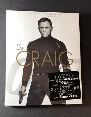 The Daniel Craig Collection  [ 4 Movies in 1 Pack ] (Blu-ray Disc) NEW