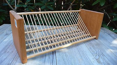 Vintage Wooden Cd Rack  Wall Mounted /Table Top Storage