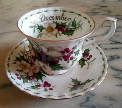 Royal Albert Flower of the month December Fiori mese Dicembre Tazza  the