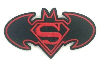 Batman Super Hero Logo Emblem Patch Embroidered Iron on applique Badge 1543