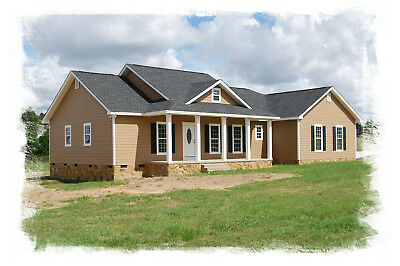 Ranch House Plans 1643 SF 3 Bed 2 Bath Open Floor Split Bedrooms (Blueprints)