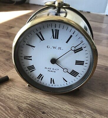 GWR Kay & Co Brass Railway Clock Great Western Railway Clock