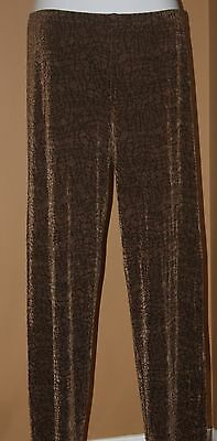 CHICO'S  Brown Black Cracked Earth Snake Print Pants 2