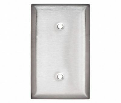 10-Pack HUBBELL W Stainless Steel Blank Box Mount Wall Plate,1 Gang,Silver, SS13