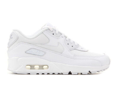 20417f2bbc Nike Wmns Air Max 90 Leather Triple White 921304-101 Size 7.5 UK