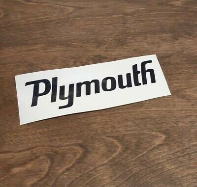 Plymouth Vintage Decal Sticker Track Race Drag Vinyl Logo Repro