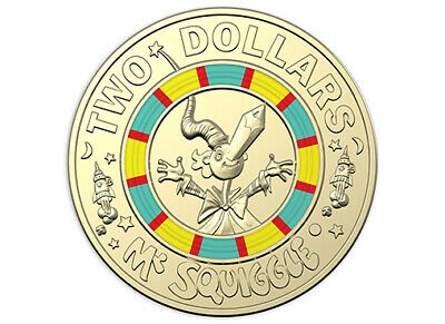 2019 $2 Coin 60th Anniversary MR SQUIGGLE UNC EX SET 🌟Limited Edition Rare 🌟