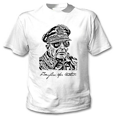 NEW COTTON WHITE TSHIRT DOUGLAS MACARTHUR