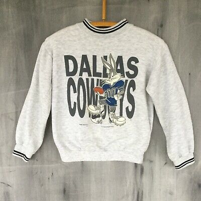 8625685b VTG 90S LOONEY Tunes Dallas Cowboys Ringer Sweatshirt Children's Youth Large