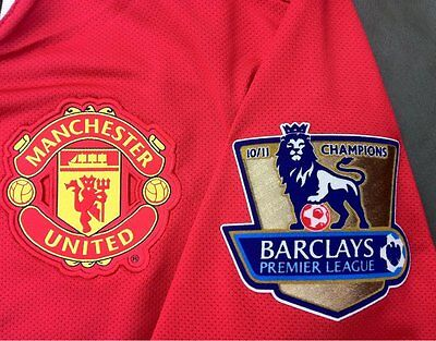 Official 2010-11 Manchester Utd EPL CHAMPIONS Replica Size Lextra  Patch Set