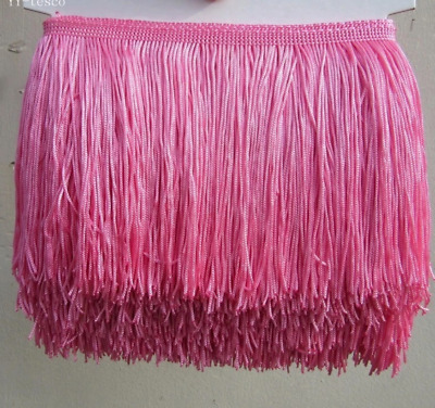 Pink 15cm Braid Trim Tassel Fringe Lace DIY Craft Clothing Price per 30cm Decor