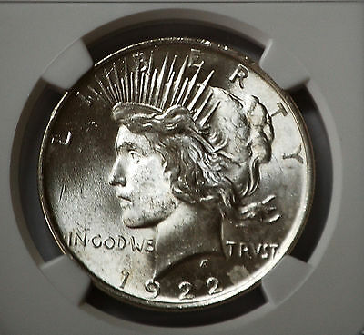 1922 Silver Peace Dollar  NGC MS 63 (2622247-016 ) Philadelphia Uncirculated
