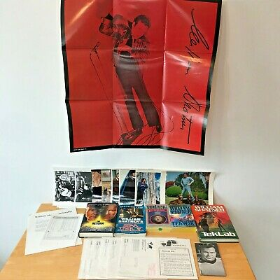 Mixed Lot 27 Star Trek William Shatner File Fan Poster Photos Address Books BK10