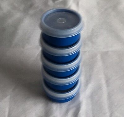 Tupperware Smidgets Blue with Clear Seals Set of 5 NEW