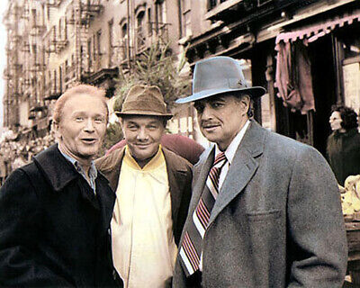 "RED BUTTONS MARIO PUZO MARLON BRANDO THE GODFATHER 8x10"" HAND COLOR TINTED PHOTO"