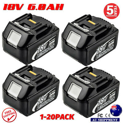 6.0AH Cordless Battery For Makita BL1860 BL1840 BL1830 BL1815 LXT Lithium Ion