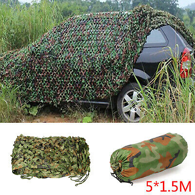 Woodland Stealth Camouflage Camo Net Shooting Hunting Hide Army Cover 5x1.5m