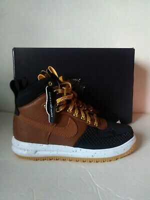 3ce5d616d72e Nike Lunar Air Force 1 Duckboot Tan Gold Brown Black 805899-004 Men Size 8