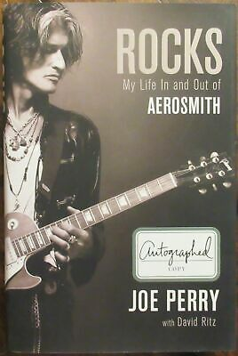 Joe Perry Aerosmith Signed Book - PSA DNA