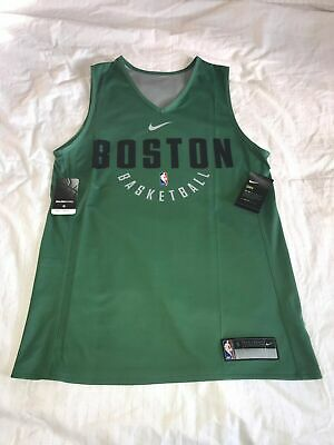 2df4ab759764 BOSTON CELTICS NBA PRACTICE Jersey NIKE - Reversible Green Gray  55 each