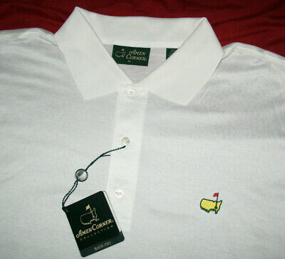 cdc0776b6 AMEN CORNER MASTERS Golf Green Plaid Pima Cotton Polo Shirt Mens XL ...