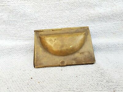 Old Original RareHandcrafted Brass Gujiya Sweet Cookie Mould Rich Patina