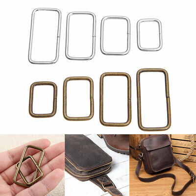 10Pcs Metal Adjustable Rectangle Ring Buckles Garment Belt Buckles Sewing Button