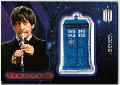 Doctor Who 2015. The Second Doctor Tardis Patch Card. Topps
