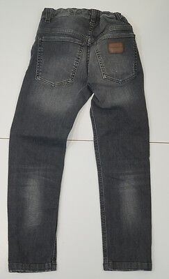 DOLCE & GABBANA Boys Grey Faded Distressed Adjustable Waist Skinny Jeans 7/8Yrs