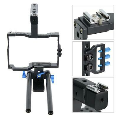 Video Camera Cage Rig Stabilizer Bracket for Sony A6300 NEX6/7 A7S A7R GH4/5 M50