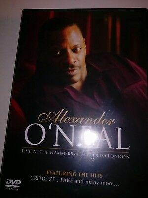 Alexander O'Neal - Live At The Hammersmith Apollo (DVD, 2006) VGOOD CONDITION
