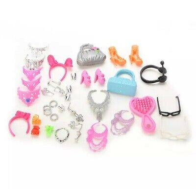 New Barbie shoes accessories handbag glasses jewelry clothes Bracelet