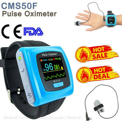 CMS50F Wearable Pulse Oximeter Pulse Blood Oxygen Monitor 24 Hours SPO2 Recorder