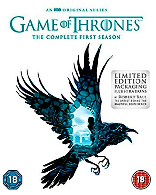 Game Of Thrones : Season 1 (Blu-ray, 2012, 5-Disc Set) Limited Edition Cover