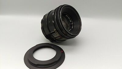 s/n0443334 RARE HELIOS 44 58mm f/2 M42 Screw Bokeh Lens for CANON EOS EF Mount!