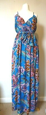 68840505a9c ASOS Woven Wrap Maxi Oversized Bright Tapestry Beach Dress Size 12 BNWT RRP  £28